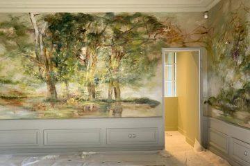 她花10年在自家牆上畫畫,畫成全世界最夢幻的城堡,網友:簡直比大自然還要驚豔!