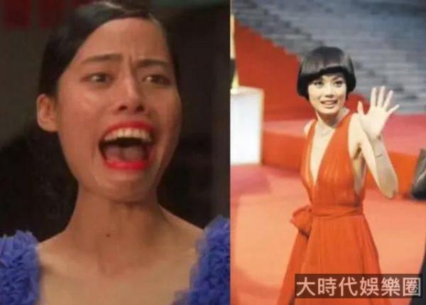 周星馳《功夫》裡的齙牙妹,生活中美得讓人認不出,酷似王祖賢!