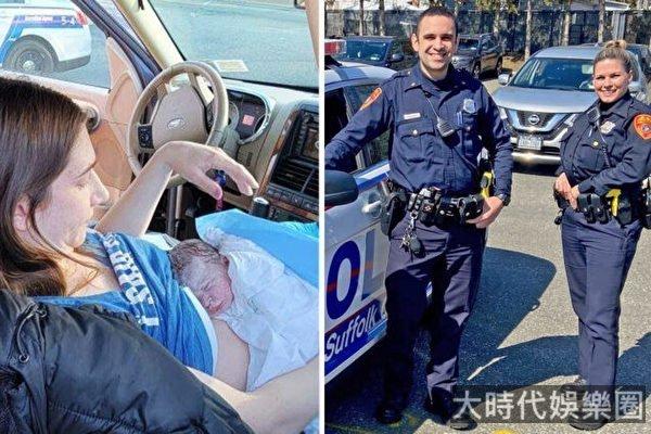 媽媽路邊分娩 以幫助她的警察的名字命名嬰兒