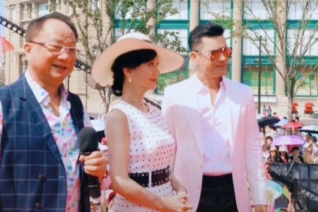 《上海灘》主演聚集,趙雅芝呂良偉似兩代人,周潤發未到場?