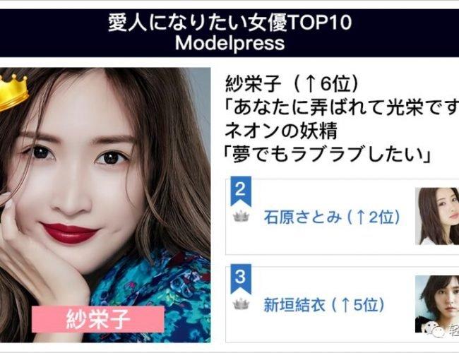 日本最強女海王,7000W男性網友票選理想情人第一名