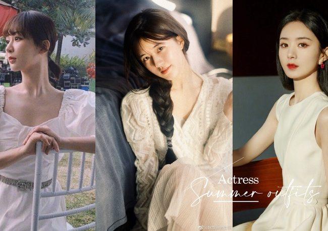 8位女星夏日白洋裝造型!趙露思、楊紫、趙麗穎這樣穿顯瘦,邢菲&白鹿撞衫