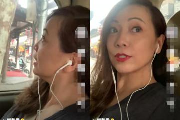 女星鄧萃雯披髮賣萌,55歲美貌依舊